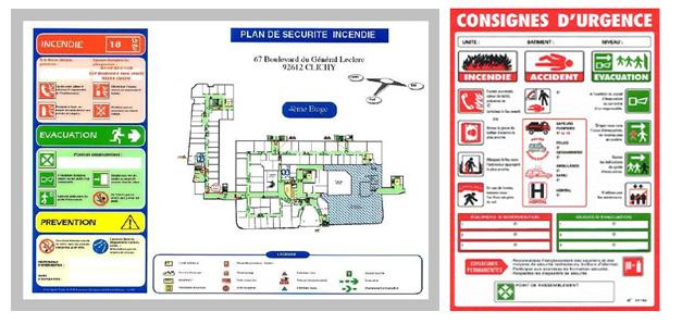 Extincteurs, alarme, éclairage de sécurité, défibrillateurs, plan d'intervention...